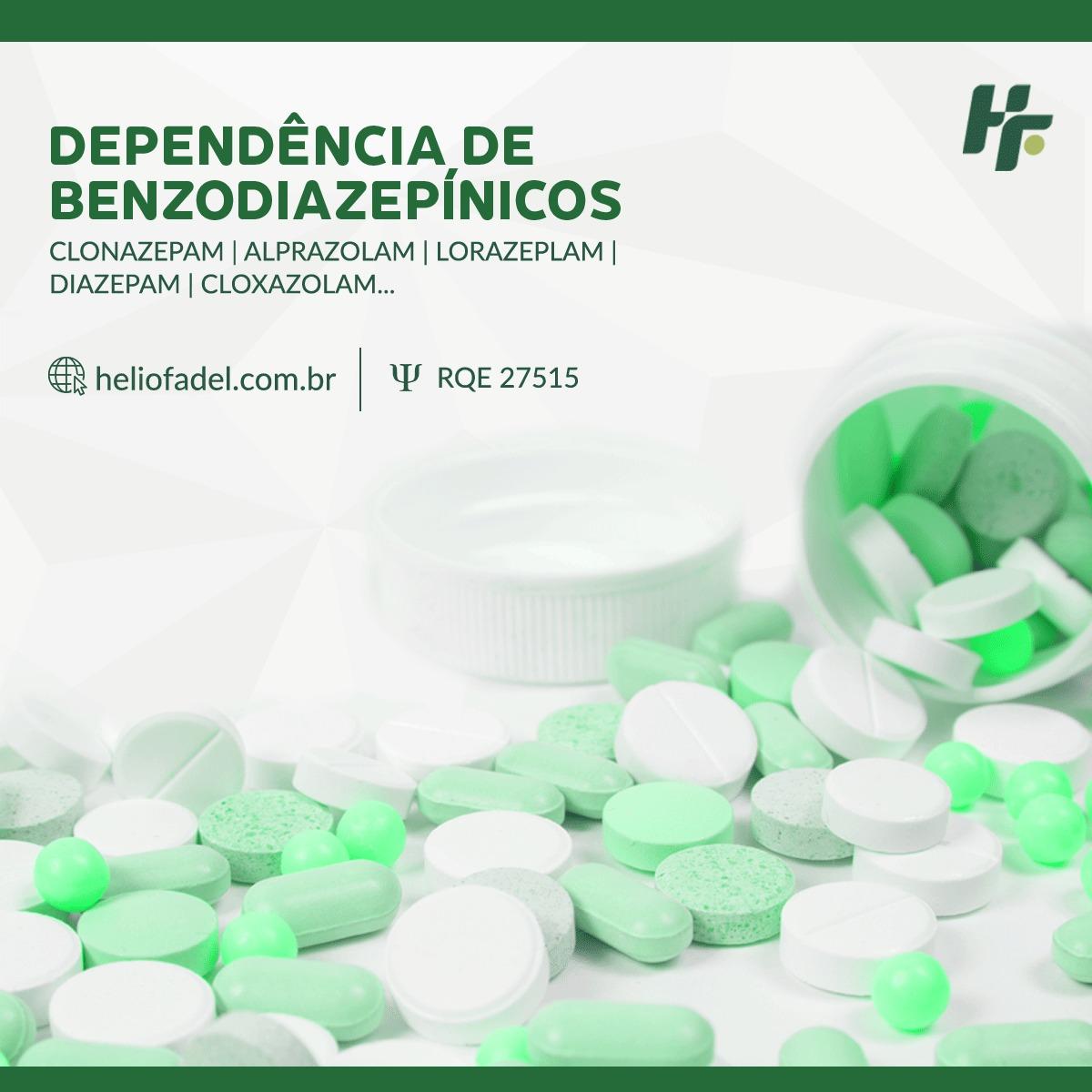 dependência de benzodiazepinicos