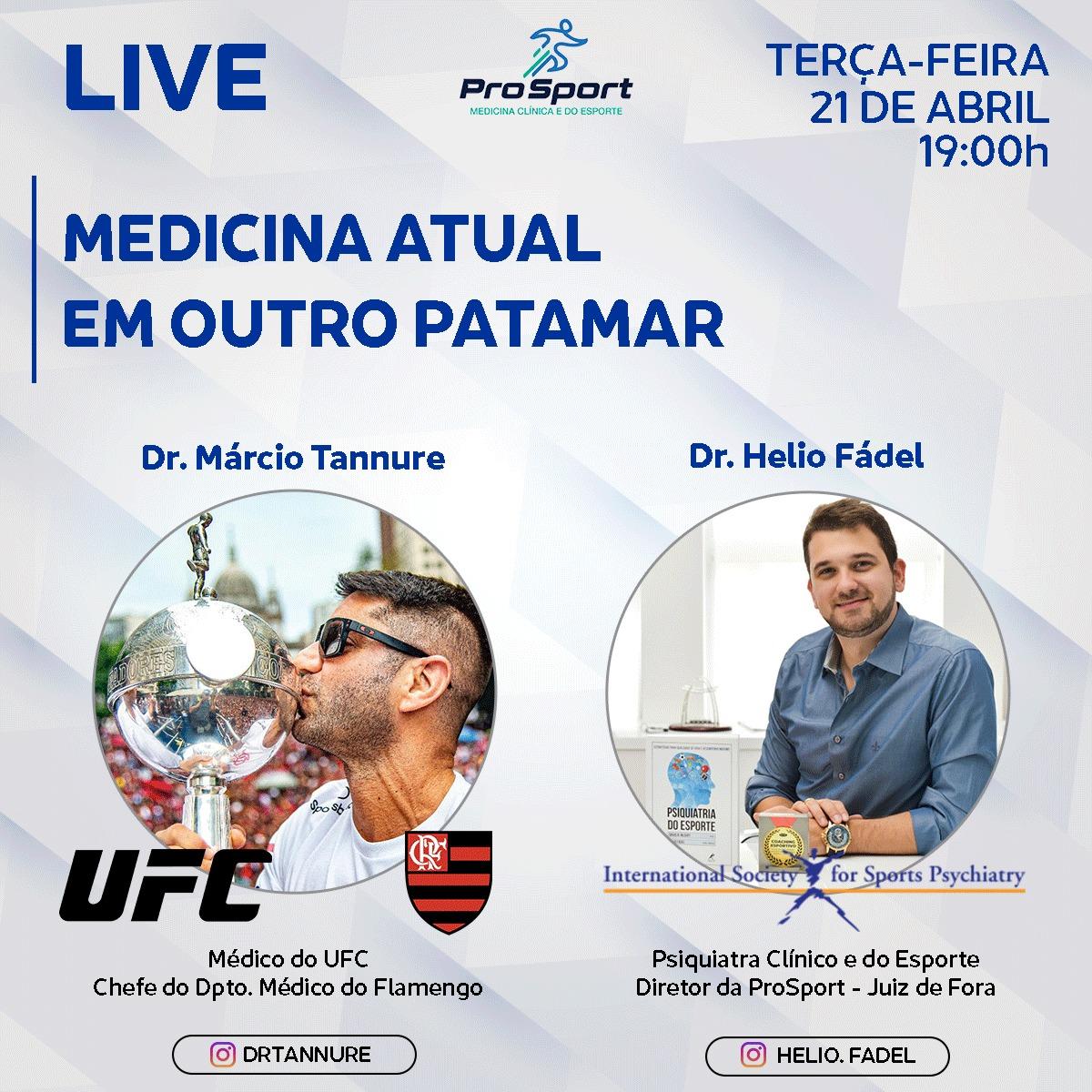 LIVE TANNURE e HELIO - LIVE com Dr. Márcio Tannure: Medicina Atual