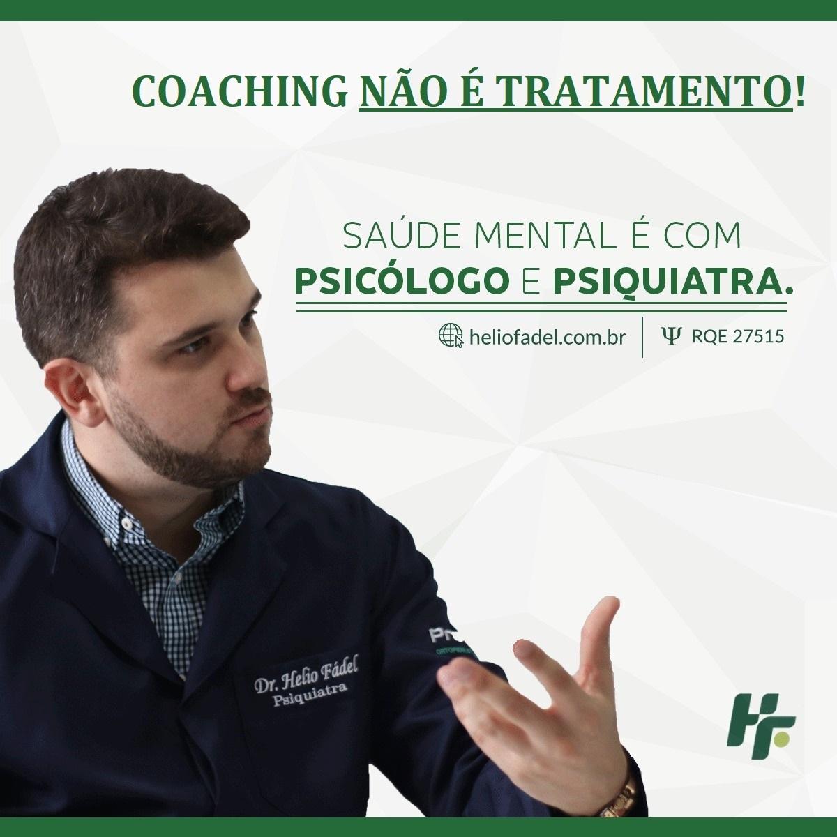 Coaching não é tratamento - Saúde mental não se trata com Coaching