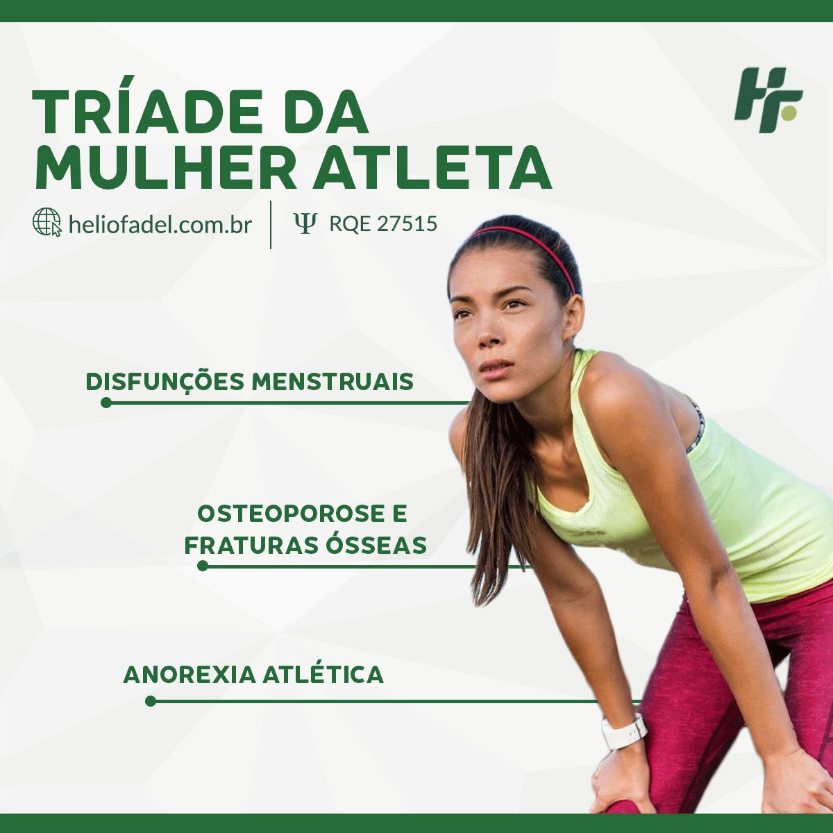 Tríade da mulher atleta - Conheça a Tríade da Mulher Atleta